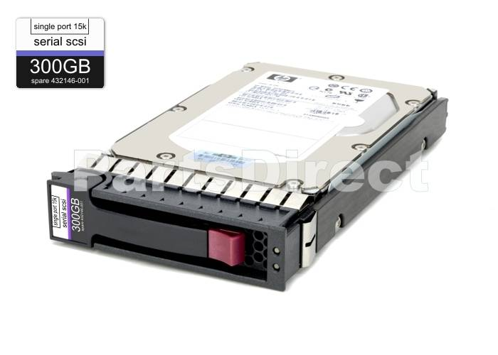 "HP 300 GB 15K RPM 3.5/"" SAS HARD DRIVE W//TRAY 516810-001 EF0300FARMU 517350-001"